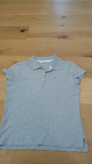 Grau meliertes Polo Shirt von Tommy Hilfiger