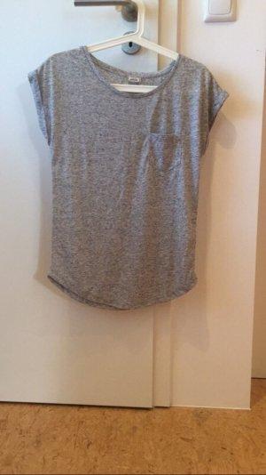 Grau meliertes T-Shirt ungetragen