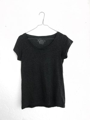 Grau Meliertes Tshirt Basic