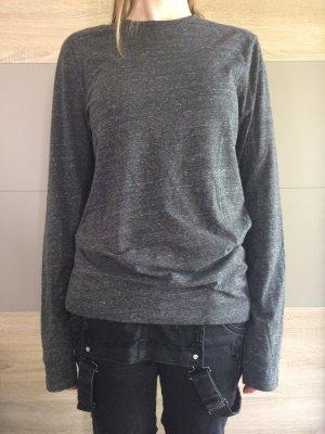 Grau melliertes Longsleeve Shirt H&M