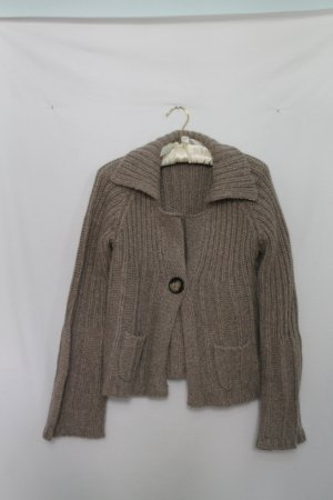 Cinque Coarse Knitted Jacket green grey wool