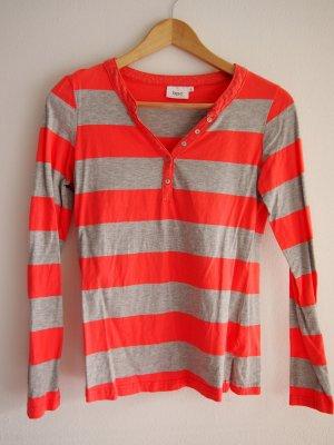 Grau/pink gestreiftes Shirt