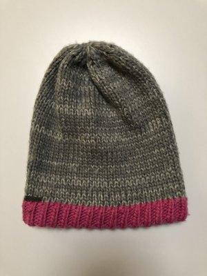 Passigatti Crochet Cap grey-pink polyester