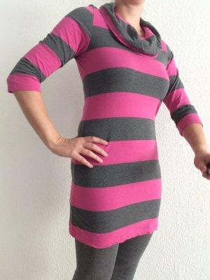 Grau-Pinkes Longshirt/Kleid Gr.36