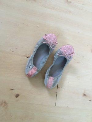 Grau / rosa Ballerinas