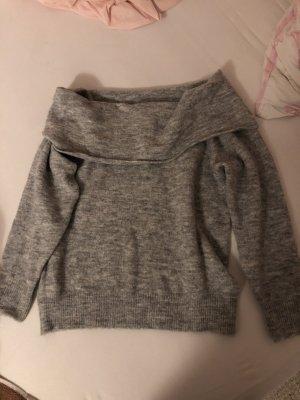 Grau Schulterfrei Pullover H&M