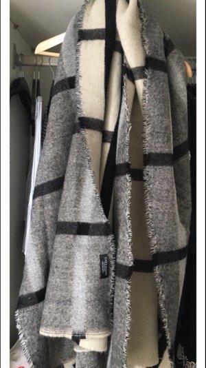 Grau schwarz beiger Zara Schal
