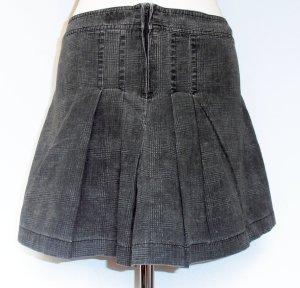 Grau/Schwarz-Karierter Minirock, Grunge-Look, 90ies Style