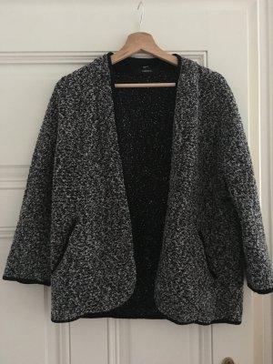 grau-schwarz melierter Cardigan