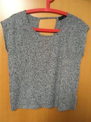 Grau-schwarz meliertes Shirt von Modström mit Rückenausschnitt