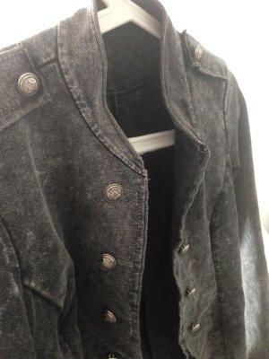 Grau schwarze Blazer in Größe S, schick und Modern , italienische Design