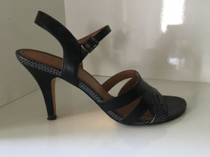 grau-schwarze Esprit Riemchen-Sandaletten