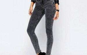Grau/schwarze Jeans 34/36