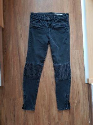 grau/schwarze Jeans von Zara