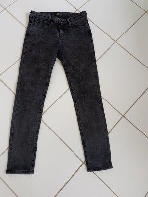 Grau-schwarze Lee Jeans