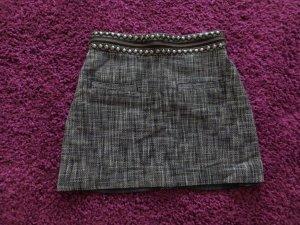 H&M Minigonna nero-grigio scuro Cotone