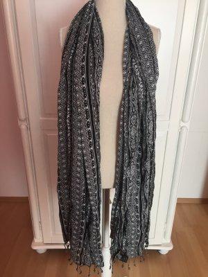 grau schwarzer Schal/Tuch