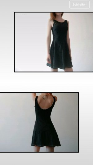 H&M Peplum Dress black-grey