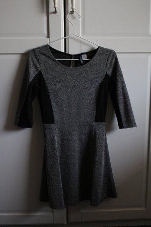 grau/schwarzes Kleid | S | H&M