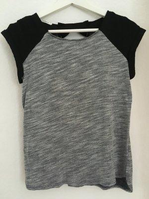 Grau-schwarzes Shirt mit Schleife