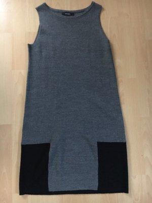Grau/ schwarzes Stoffkleid Stefanel