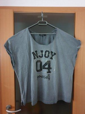 grau-schwarzes T-Shirt von Ulla Popken