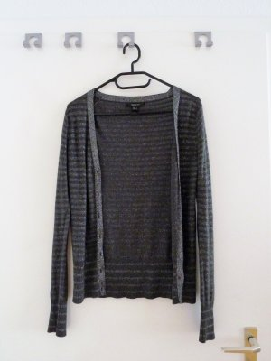 Mango Cardigan tricotés argenté-gris foncé
