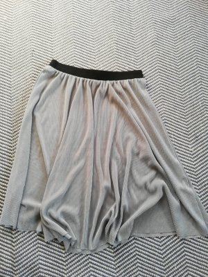 Pleated Skirt silver-colored-light grey