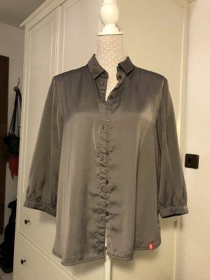 Grau/ Silberne Bluse von Esprit Gr S
