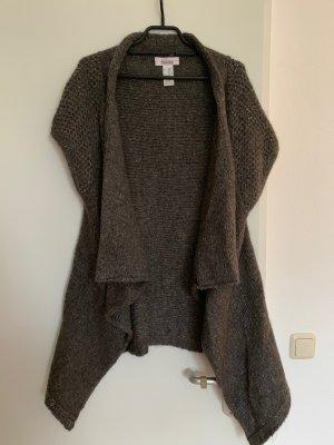 Linea Tesini Smanicato lavorato a maglia argento-grigio Mohair