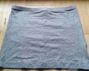 Grau silberner schimmernder Rock H&M Basic
