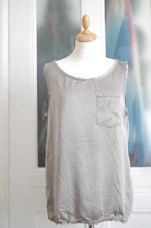 Knitted Jumper silver-colored-grey brown viscose