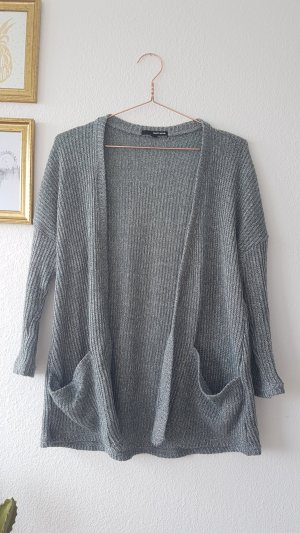 Grau Strick Cardigan Oversized