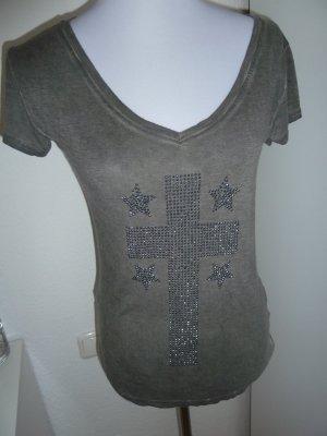 Grau T-Shirt mit Nieten von Poolgirl