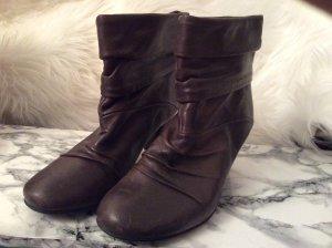 Grau Taube Stiefel Boots Schuhe 38