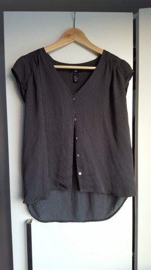 Grau-transparente Bluse