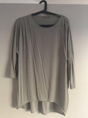 Grau/türkise Bluse