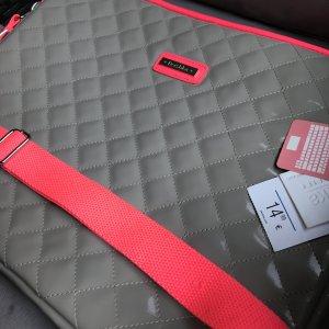 Bershka Laptoptas grijs-magenta