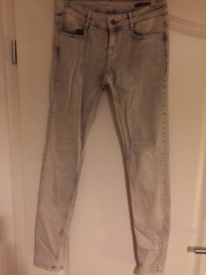 Oui Set Jeans skinny grigio chiaro
