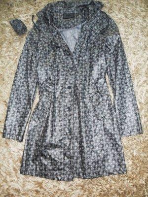 Manteau de pluie gris-blanc