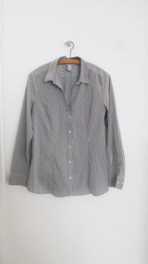 H&M Blouse à manches longues gris-blanc