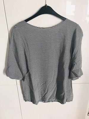 Grau / weiß gestreiftes Blusen Shirt von Esprit, Gr. 36