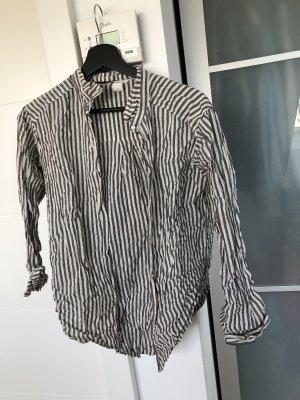 Grau-Weiß gestreiftes H&M Hemd