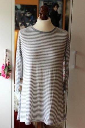 Grau-weiß gestreiftes Shirtkleid Primark oversized