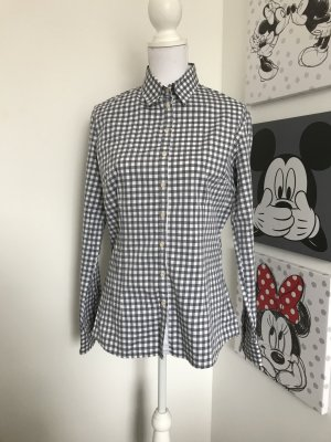 Blaumax Checked Blouse dark grey-white