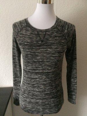 grau weiß meliertes Langarmshirt / Shirt / Pulli / Pullover von Clockhouse / C&A - Gr. XS