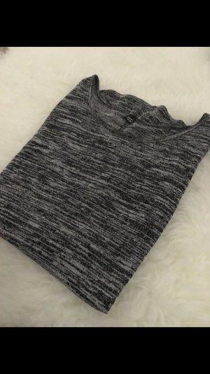 Grau/weiß meliertes Shirt