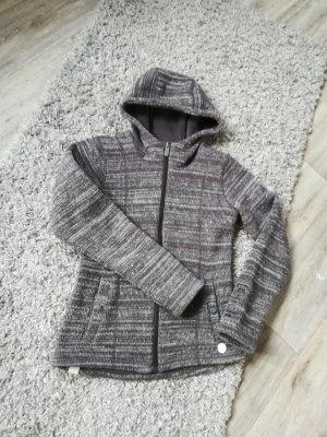 Grau/Weiße Strickjacke von Bench