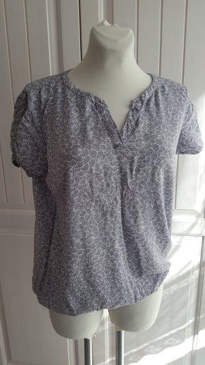 Grau-weisses Blusen-Shirt von Tom Tailor, Gr. 40, Top Zustand