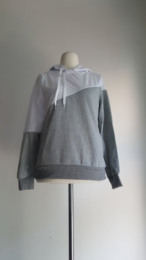 Sweat Shirt silver-colored-white polyester